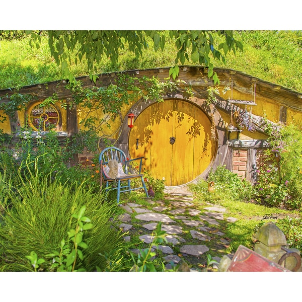 Stewart Parr 'Hobbit Shire From The Lord of the Rings - South New Zealand Island' 16-inch x 20-inch Unframed Print
