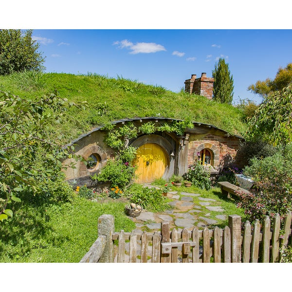 Stewart Parr 'House in the Hobbit Shire from Lord of the Rings' Unframed Photo Print