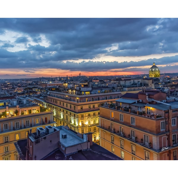 Stewart Parr 'Rome, Italy Sunset with St. Peter's Basilica Dome at The Horizon' Unframed Photo Print