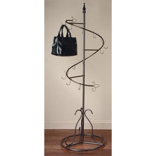 Brown Metal Classic Spiral Purse Tree