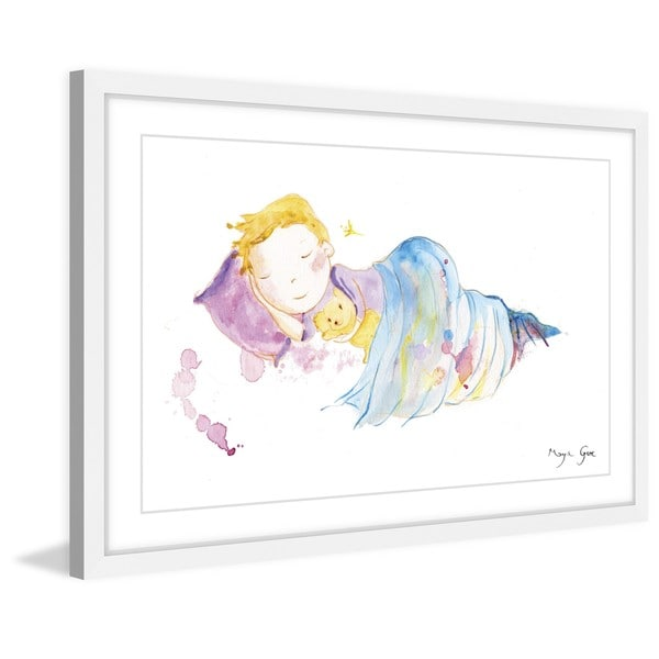 Marmont Hill - 'Peaceful Sleep' by Maya Gur Framed Painting Print