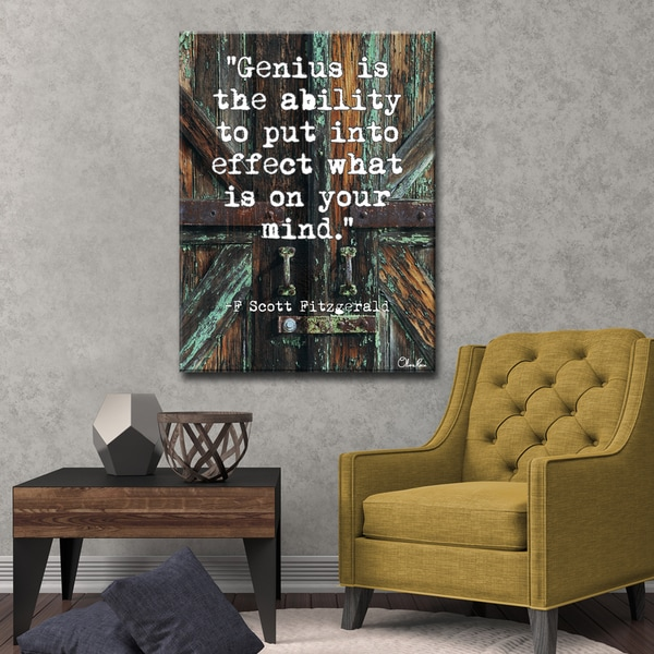 Ready2HangArt F Scott Fitzgerald - Genius by Olivia Rose Canvas Art