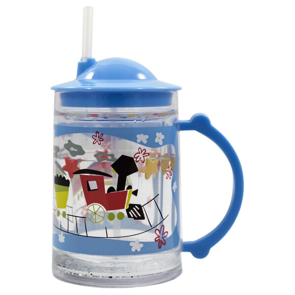 Gaia Group USA Kids' World of Mary Blair Trains Plastic Straw Cup 22080117