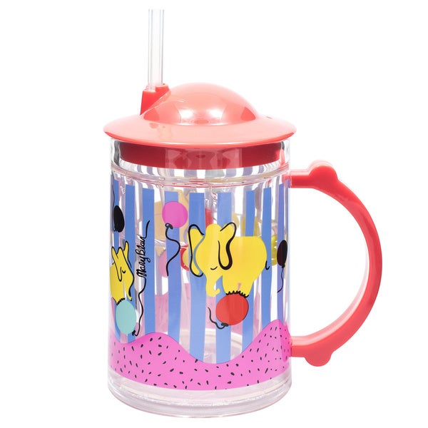 Child's 'Elephants' Plastic Straw Cup 22080177