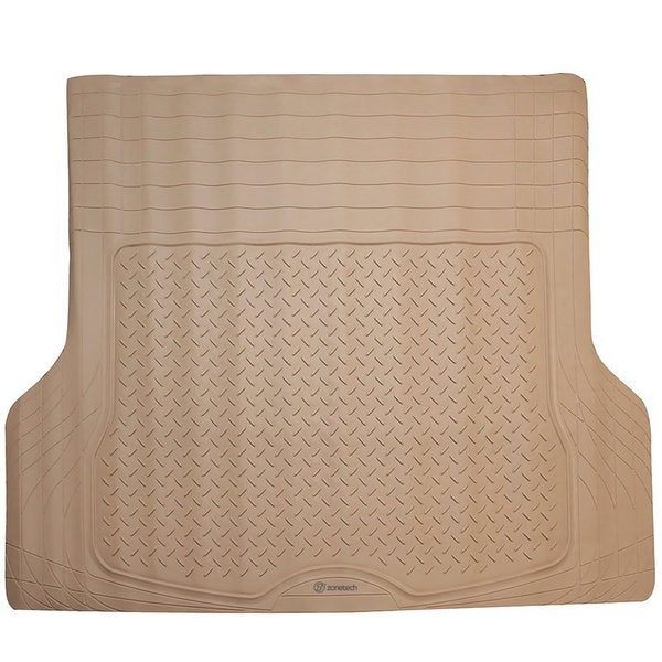 Zone Tech Beige Rubber Trimmable Custom Fit Cargo Mat