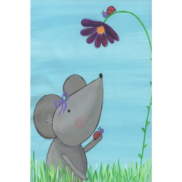 Marmont Hill - 'Grey Mouse' by Melonie Madison Painting Print on Wrapped Canvas