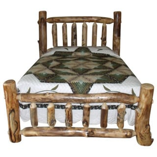 Rustic Aspen Log Mission Style Complete Bed