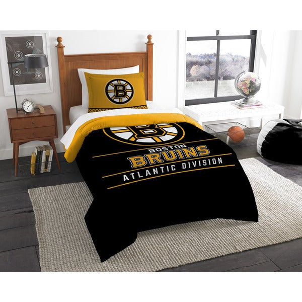 The Northwest Company NHL 86201 Boston Bruins Draft 2-piece Twin Comforter Set