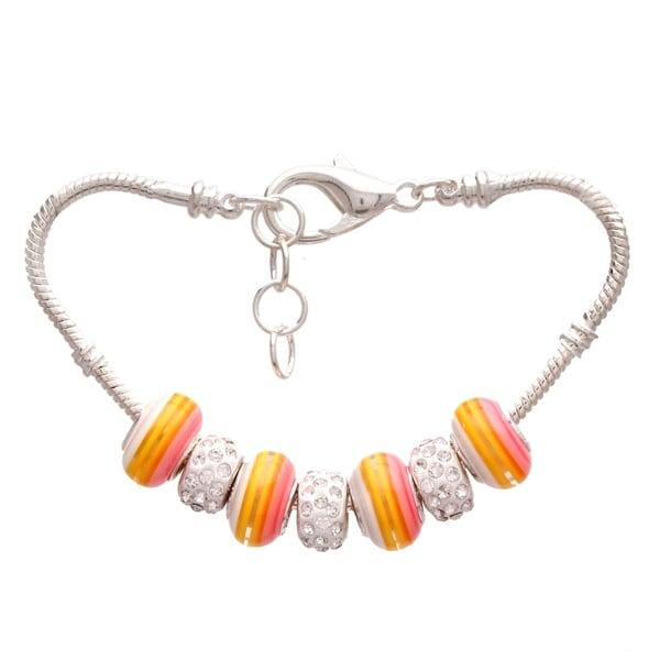 """""""Sunshine Rainbow"""" Pandora-Style Charm Bracelet"""