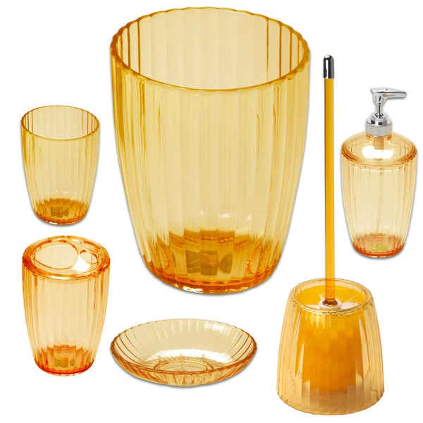 Ribbed Acrylic Bath Accessory Set or Separates 22081943