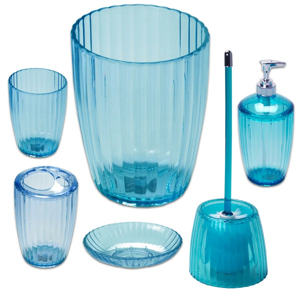 Ribbed Acrylic Bath Accessory Set or Separates 22082127