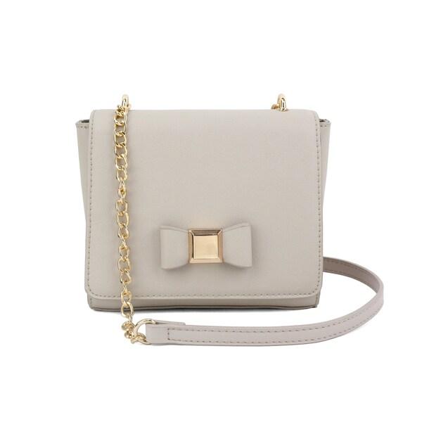 Olivia Miller Kinsley PU Bow Crossbody Handbag