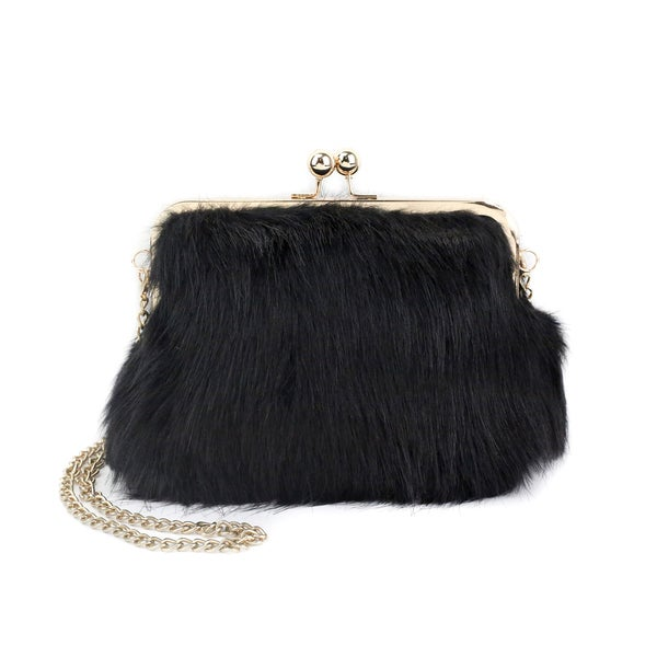 Olivia Miller 'Iselle' All Over Fur Shoulder Handbag