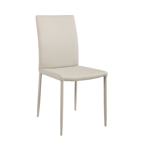 Grey Fully Covered Tapered Leg Side Chairs (Set of 2)