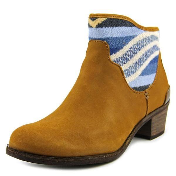 Ugg Australia Women's 'Penelope Pendleton' Brown Leather Round Toe Boots