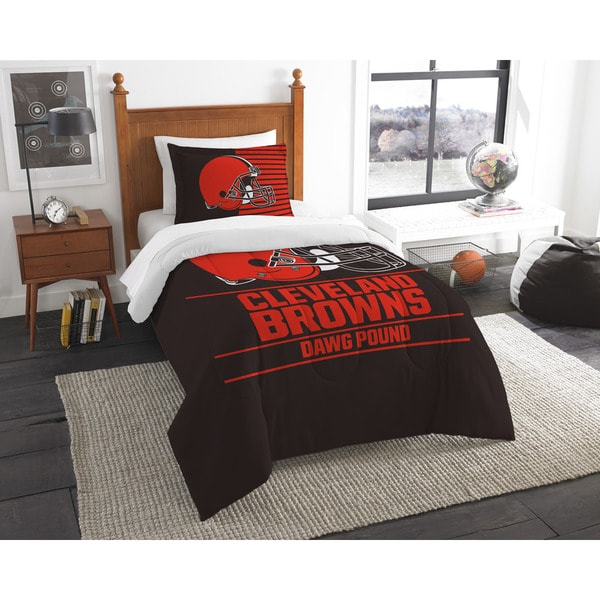 The Northwest Company NFL 862 Browns Draft 2-piece Twin Comforter Set