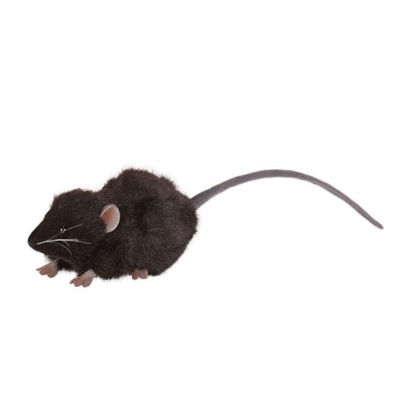 Hansa Black Mouse Plush Toy