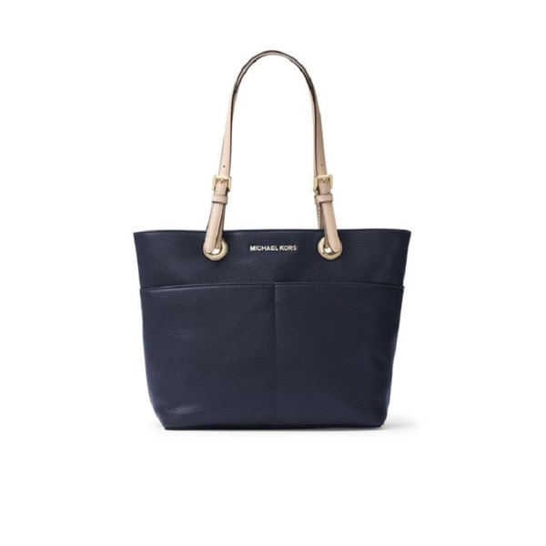 Michael Kors Admiral Blue Bedford Leather Top Zip Tote Bag