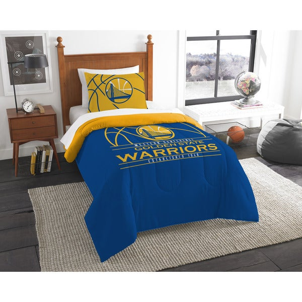 The Northwest Company NBA 86201 Warriors Reverse Slam 2-piece Twin Comforter Set