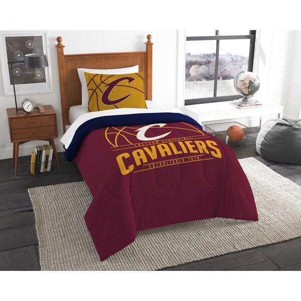NBA 86201 Cavaliers Reverse Slam 2-piece Twin Comforter Set
