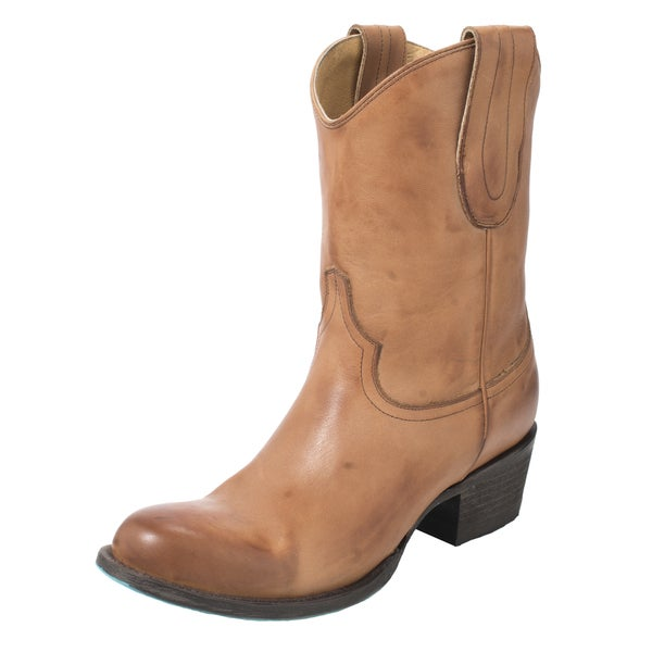 Lane Boots Women's Rock Studdie Tan Leather Boots