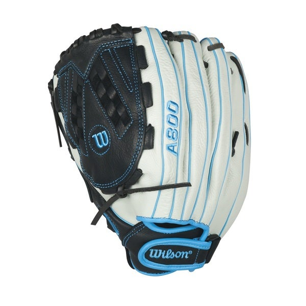 Wilson A800 Aura Grey Leather 12.5-inch Fastpitch Softball Outfield Glove