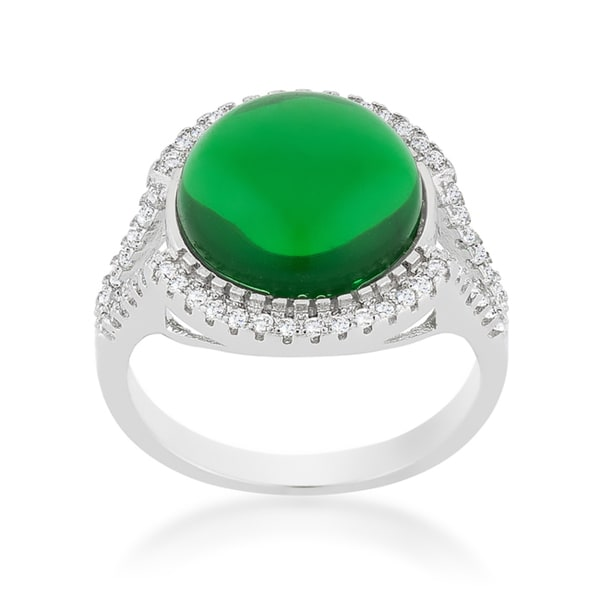 Green Halo Cocktail Ring