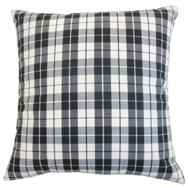 Joss Plaid Euro Sham Black