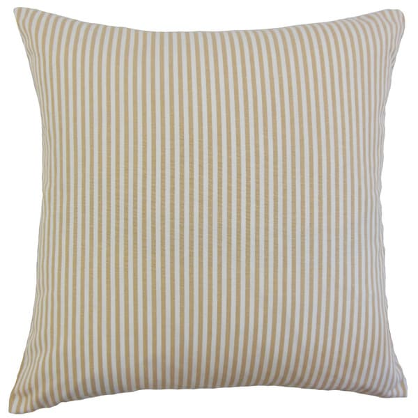 Ira Stripes Euro Sham Honey