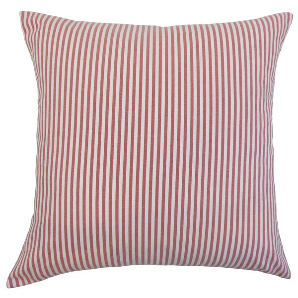 Ira Stripes Euro Sham Red