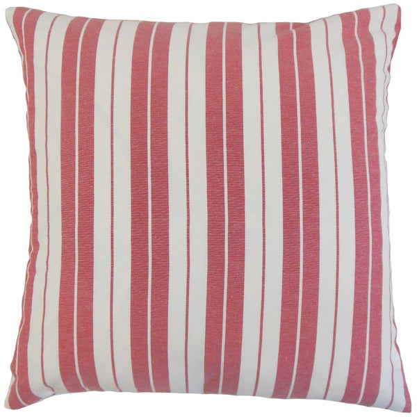 Henley Stripes Euro Sham Red