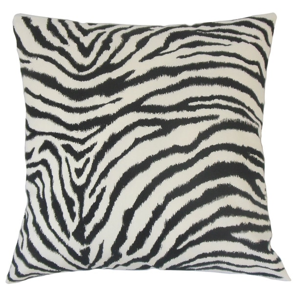 Wassameh Animal Print Euro Sham Black White