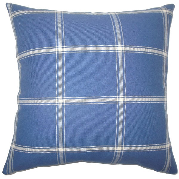 Vander Plaid Euro Sham Blue