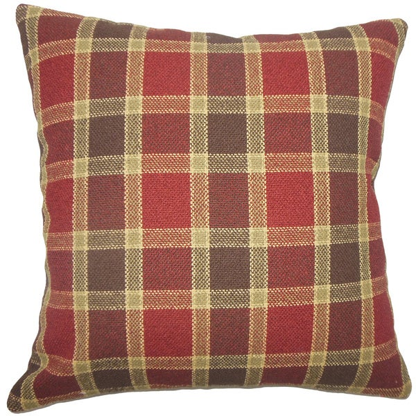 Barton Plaid Euro Sham Red