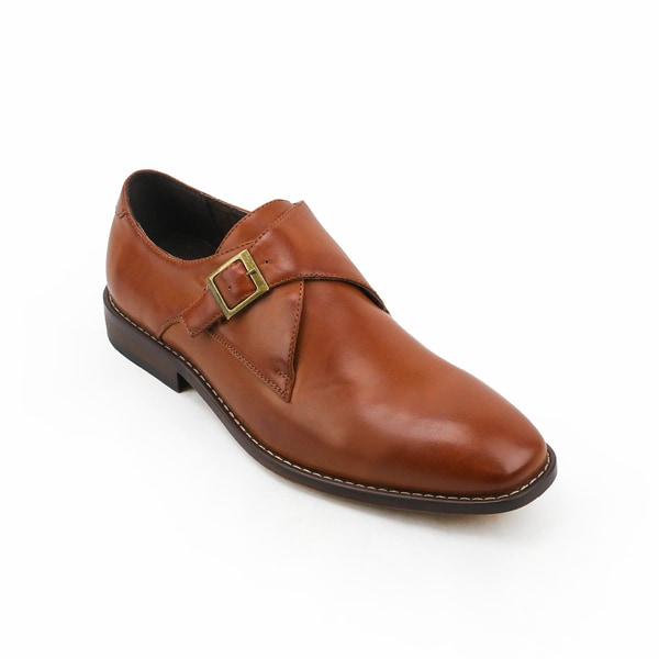 Xray Solo Brown Leather Monk Strap Oxford Shoe