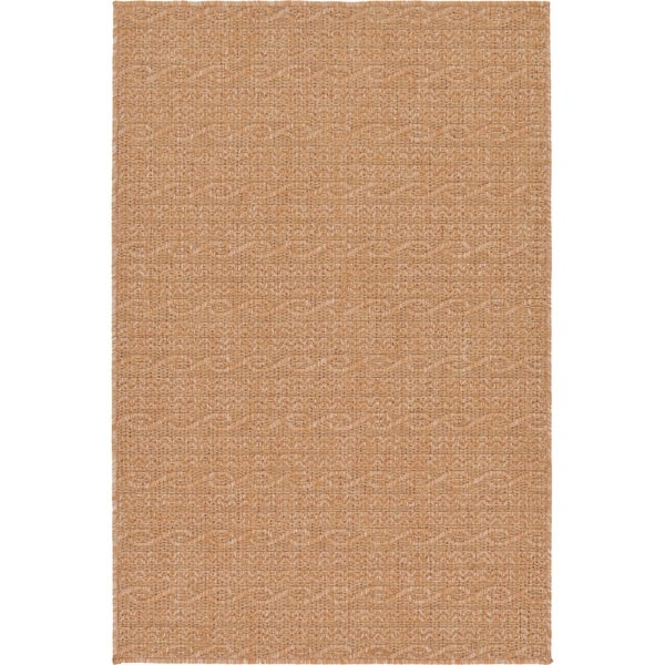 Light Brown Polypropylene Outdoor Rug (3'2 x 4'11) - 3'2 x 4'11 22099091