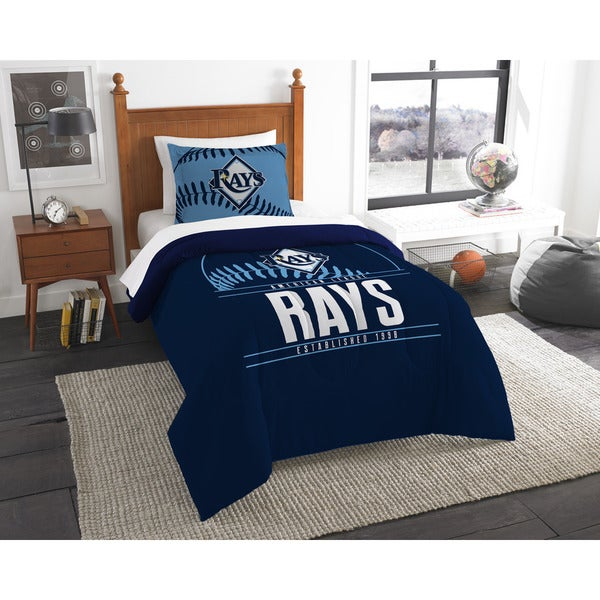 MLB 86201 Rays Grandslam 2-piece Twin Comforter Set