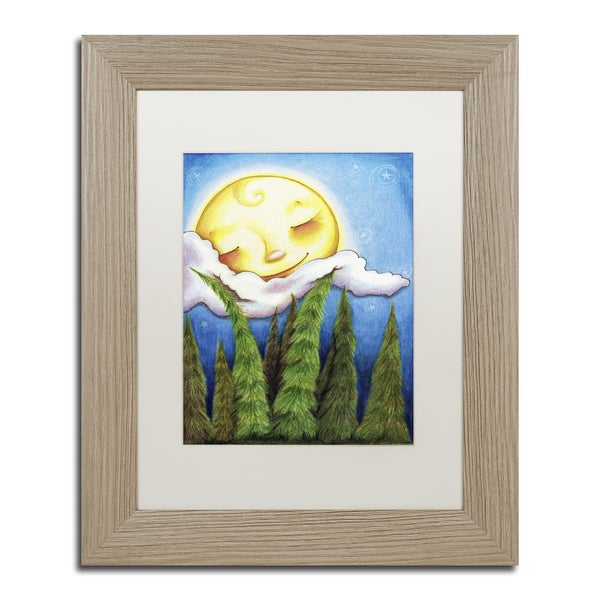 Jennifer Nilsson 'Sleep Sweet Forest Moon' Matted Framed Art