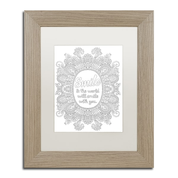 Hello Angel 'Inspirational Quotes 27' Matted Framed Art