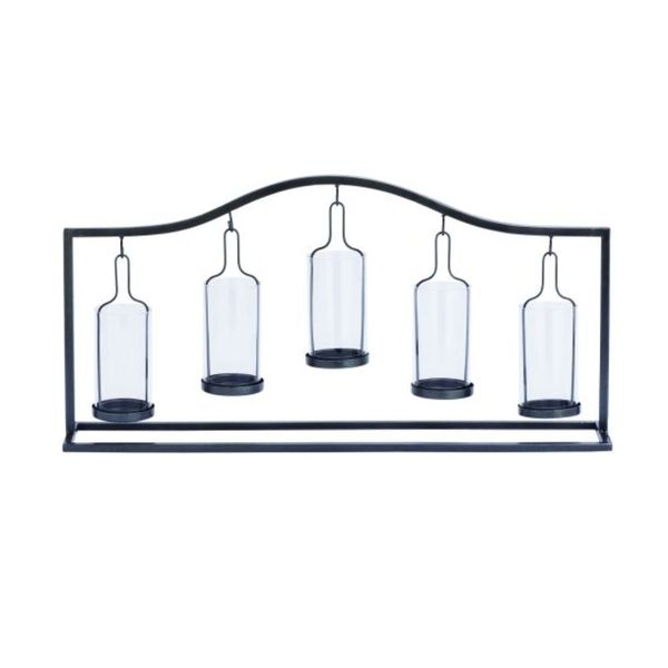 Metal Glass Votive Holder 24W, 12H 22100003