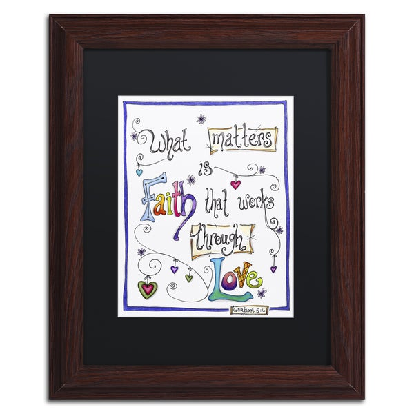 Jennifer Nilsson 'Words of Faith - Through Love' Matted Framed Art