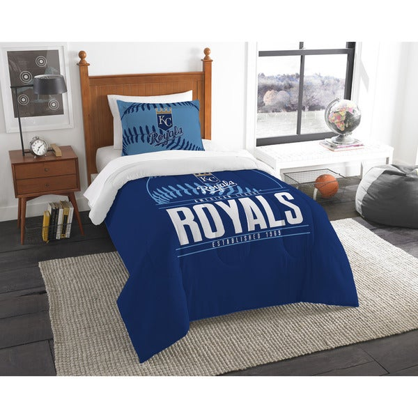 MLB 86201 Royals Grandslam 2-piece Twin Comforter Set