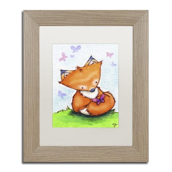 Jennifer Nilsson 'Little Fox and New Friend' Matted Framed Art