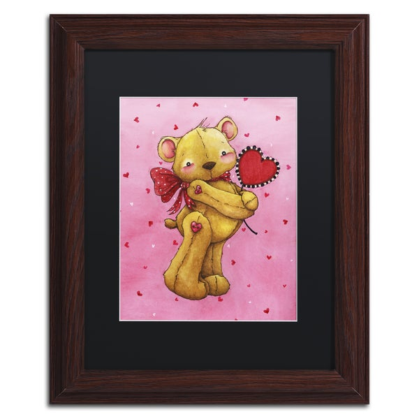 Jennifer Nilsson 'Sweetheart Bear' Matted Framed Art