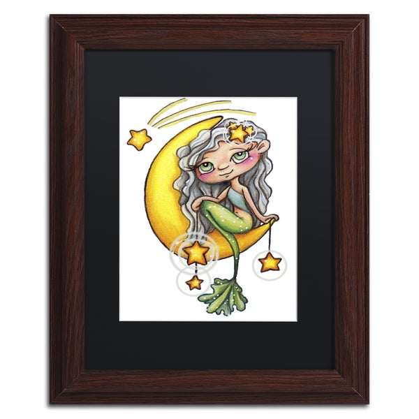 Jennifer Nilsson 'She Hangs the Stars' Matted Framed Art