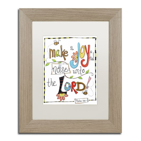 Jennifer Nilsson 'Words of Joy - Joyful Noise' Matted Framed Art
