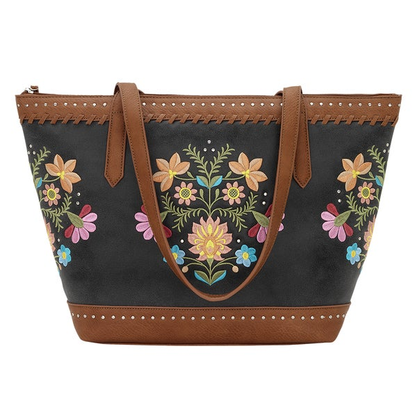 Bandana Maya Embroidered Zip-top Tote Bag 22101106