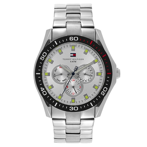 Tommy Hilfiger Men's Silver-tone Stainless Steel Watch