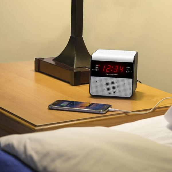 Equity by La Crosse 30118 FM Alarm Clock Radio with USB charge port