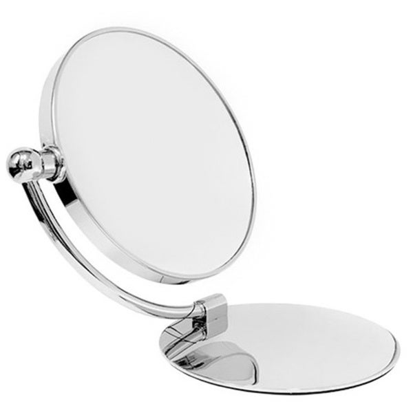 Rucci Classical Chrome Foldable Dual-sided Stand Mirror with 7x/1x Magnification and 3-in-1 Compact Mirror 22103122